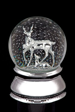 Musical Water Snow Globe With Deer ...