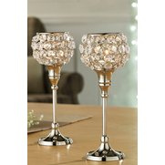 Set Of 2 Genuine Crystal Tea Light ...