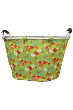Floral Green Laundry Basket
