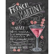 French Martini Print