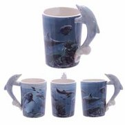 Dolphin Ceramic Shaped Handle Mug
