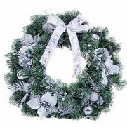 Silver Poinsettia Wreath