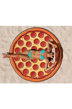 Fun Shaped Beach Towel - Pepperoni ...