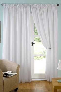Evie Lined Voile Pencil Pleat Curtains