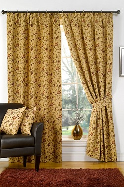 Victoria Tapestry Antique Curtains