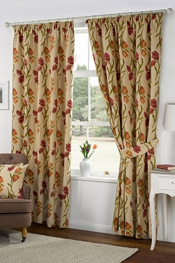 Amsterdam Tapestry Pencil Pleat Curtains