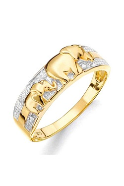 Elephant Ring With Diamonds