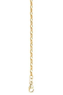 "9ct Gold 18"" Hollow Oval Belcher Chain"
