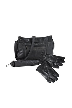 Leather Bag Set