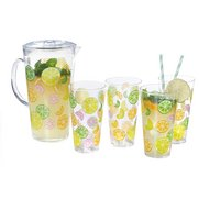 Citrus Design Water Jug With 4 FREE...