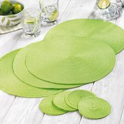 4 Lime Placemats With 4 Free Coasters