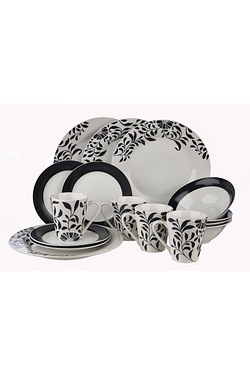 16 Piece Leaves Dinner Set