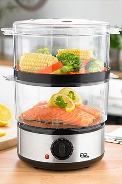 EGL Stainless Steel 2 Tier Steamer