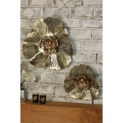 Set Of 2 Metal Flower Wall Decorations