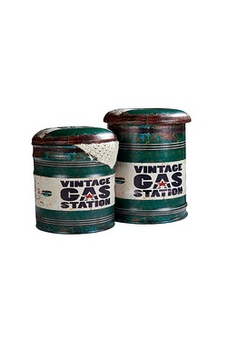 Set Of 2 Oil Can Storage Trunks