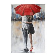 Hand Painted Kissing In The Rain Ca...