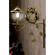 Metal Owl with Solar Lantern
