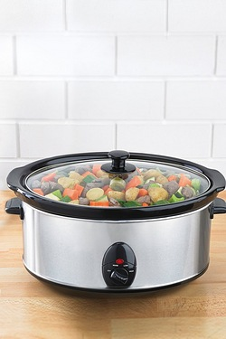 EGL 6.5L Oval Stainless Steel Slow Cooker