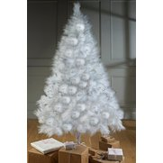 White Bushy Glitter Tree