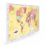World Traveller Map - Laminated