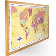 World Traveller Map - Yellow