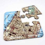 World City Map Coasters - New York