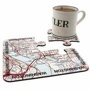 World City Map Coasters - Washington