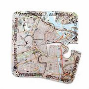 World City Map Coasters - Amsterdam