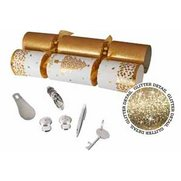 6 Luxury Gold Glitter Tree Crackers