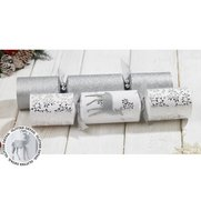 6 Luxury Silver Glitter Reindeer Cr...