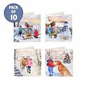 Pack Of 10 Let It Snow Cards