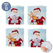 12 Cheery Santa Cards
