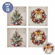 12 Christmas Tree & Wreath Cards
