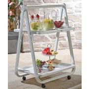 2 Tier Foldable Table With Wheels
