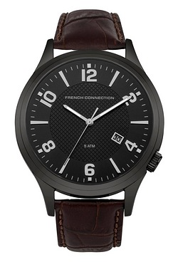 French Connection Gents Dial Brown ...