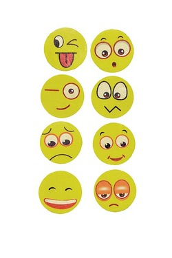 Set Of 8 Emoji Rubbers