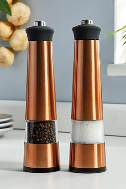Copper Coloured Salt and Pepper Set