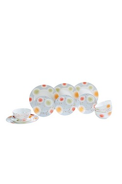 12-Piece Bone China Dinner Set - Or...