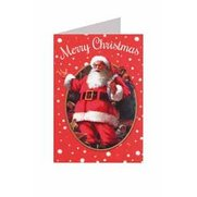8 Self-Adhesive Traditional Santa Tags
