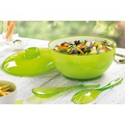 Lidded Salad Bowl & 2 FREE Servers