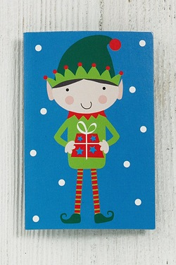 Blue Santa and Elf Gift Tags