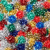 Image of 100 Mini Multi-Coloured Foil Bow Pack