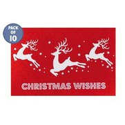 10 Leaping Reindeer Tags