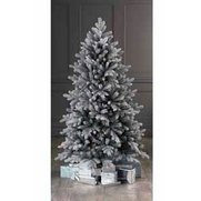 Unlit Frosted Vermont Spruce Tree