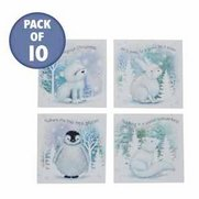 10 Cute Snow Animal Cards