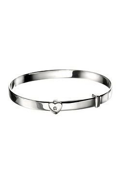 D For Diamond: Heart Baby Bangle