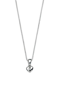 D For Diamond: Heart Pendant