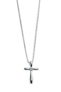 D For Diamond: Shaped Cross Pendant