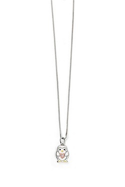 D For Diamond: Enamel Penguin Pendant