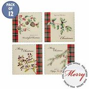12 Christmas Foliage Cards